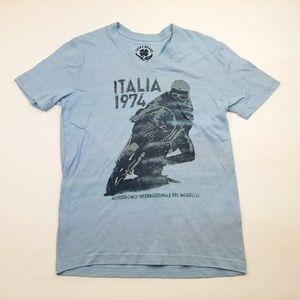 Lucky Brand Men's V-neck T-shirt Size Small Blue S